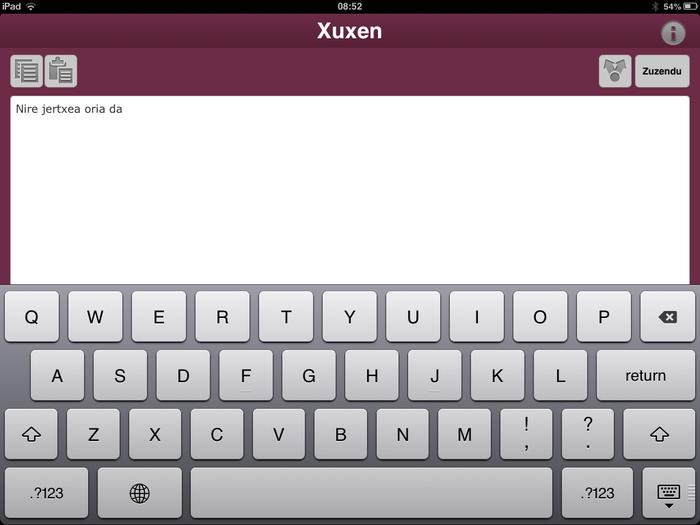 Xuxen zuzentzaile ortografikoa eramangarrietarako aplikazio moduan atera dute