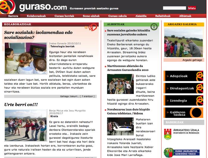 Sare sozialen gaineko hitzaldia jarraitu zuzenean Guraso.com webgunean