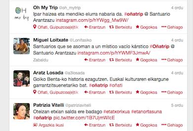 Interneten eta 'off-line', blogtrip arrakastatsua Oñatin