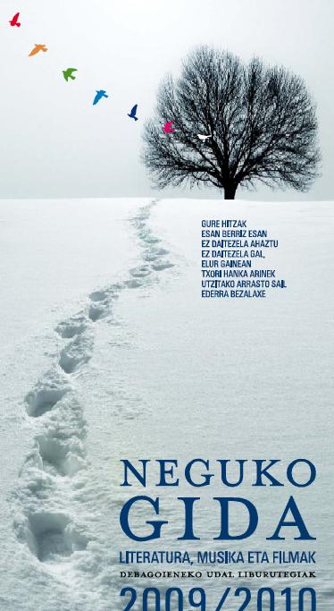 Udal liburutegiak kaleratu du Neguko Gida